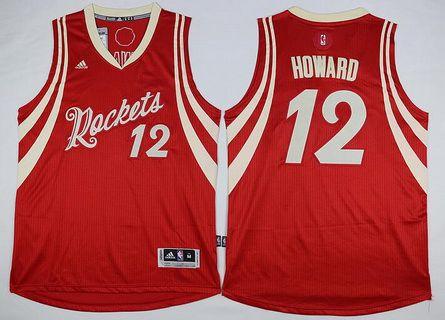 Houston Rockets #12 Dwight Howard Revolution 30 Swingman 2015 Christmas Day Red Jersey