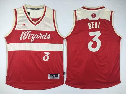 Men's Washington Wizards #3 Bradley Beal Revolution 30 Swingman 2015 Christmas Day Red Jersey