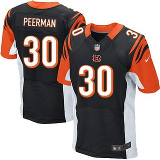 Men's Cincinnati Bengals #30 Cedric Peerman Black Team Color NFL Nike Elite Jersey