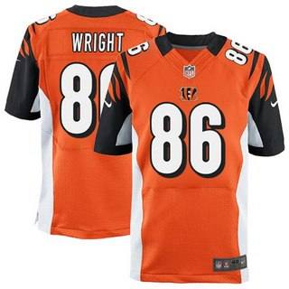 Men's Cincinnati Bengals #86 James Wright Orange Alternate NFL Nike Elite Jersey