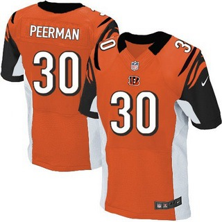 Men's Cincinnati Bengals #30 Cedric Peerman Orange Alternate NFL Nike Elite Jersey