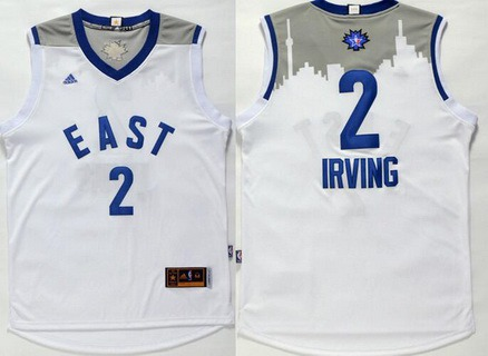2015-16 NBA Eastern All-Stars Men's #2 Kyrie Irving Revolution 30 Swingman White Jersey