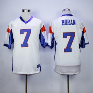 Men's The Movie Blue Mountain State #7 Alex Moran White Football Jersey