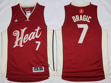 Men's Miami Heat #7 Goran Dragic Revolution 30 Swingman 2015 Christmas Day Red Jersey