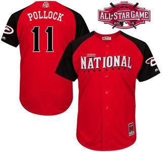 National League Arizona Diamondbacks #11 A. J. Pollock 2015 MLB All-Star Red Jersey