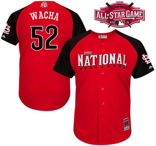 National League St. Louis Cardinals #52 Michael Wacha 2015 MLB All-Star Red Jersey
