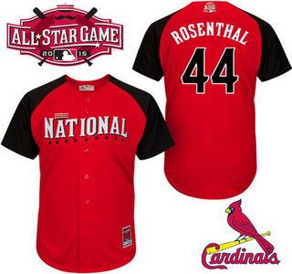 National League St. Louis Cardinals #44 Trevor Rosenthal 2015 MLB All-Star Red Jersey