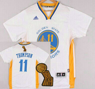 Golden State Warriors #11 Klay Thompson Revolution 30 Swingman 2014 New White Short-Sleeved Jersey
