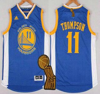 Golden State Warriors #11 Klay Thompson Revolution 30 Swingman 2014 New Blue Jersey