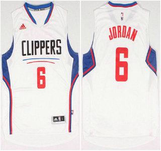 Los Angeles Clippers #6 DeAndre Jordan Revolution 30 Swingman 2015 New White Jersey
