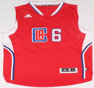Los Angeles Clippers #6 DeAndre Jordan Revolution 30 Swingman 2015 New Red Jersey