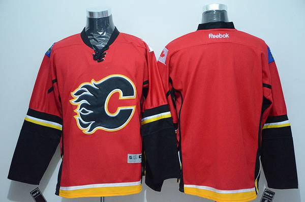 Men's Calgary Flames Blank Red Jersey
