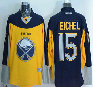 Men's Buffalo Sabres #15 Jack Eichel Reebok Gold Alternate Premier Jersey