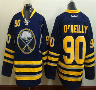 Men's Buffalo Sabres #90 Ryan O'Reilly Reebok Navy Blue Home Premier Jersey