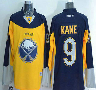 Men's Buffalo Sabres #9 Evander Kane Reebok Gold Alternate Premier Jersey