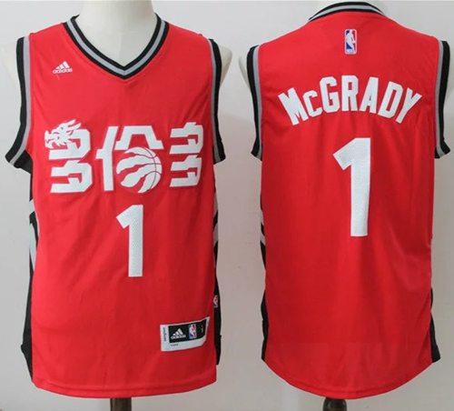 Men's Toronto Raptors #1 Tracy McGrady Red Chinese Stitched 2017 NBA Revolution 30 Swingman Jersey
