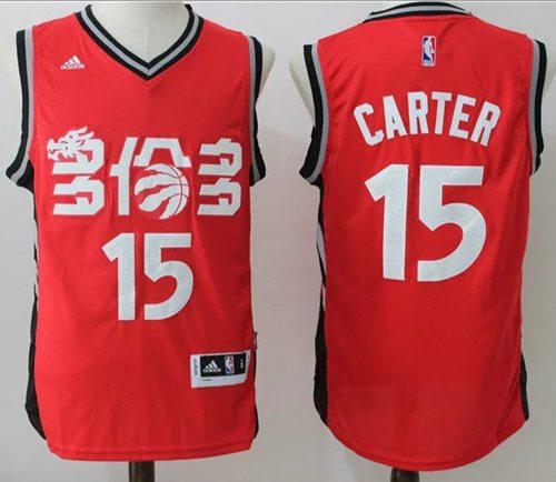 Men's Toronto Raptors #15 Vince Carter Red Chinese Stitched 2017 NBA Revolution 30 Swingman Jersey