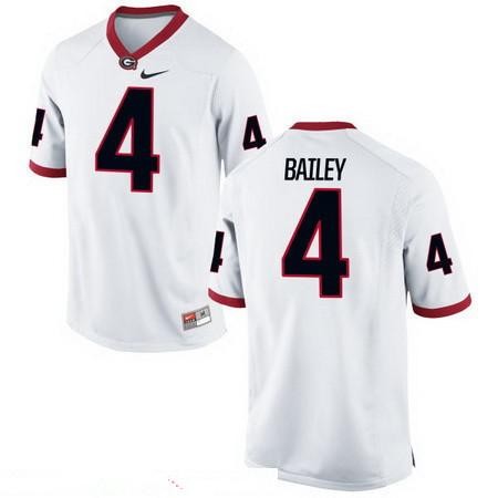 Men's Georgia Bulldogs #4 Champ Bailey White Stitched College Football 2016 Nike NCAA Jersey
