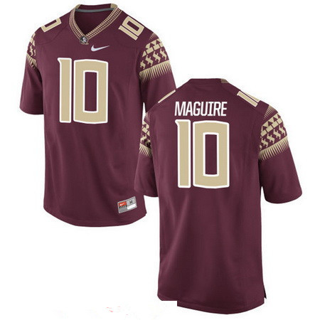 Men's Florida State Seminoles #10 Sean Maguire Red Stitched College Football 2016 Nike NCAA Jersey