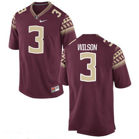 Men's Florida State Seminoles #3 Jesus Wilson Red Stitched College Football 2016 Nike NCAA Jersey