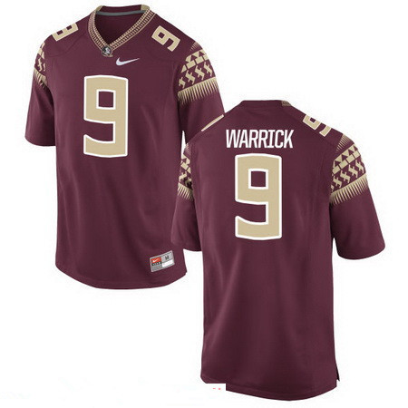 Men's Florida State Seminoles #9 Peter Warrick Red Stitched College Football 2016 Nike NCAA Jersey