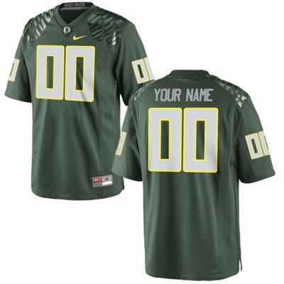Mens Oregon Ducks Custom Replica Football Jersey - 2015 Green