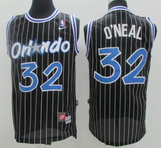 Men's Orlando Magic #32 Shaquille O'neal Black Stitched NBA Nike Swingman Jersey
