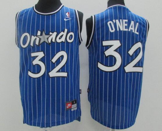 Men's Orlando Magic #32 Shaquille O'neal Blue Stitched NBA Nike Swingman Jersey