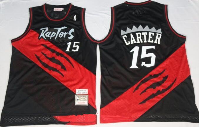 Men's Toronto Raptors #15 Vince Carter 2000-01 Black Hardwood Classics Soul Swingman Throwback Jersey