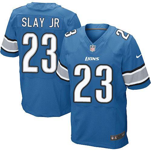 Nike Lions #23 Darius Slay JR Blue Team Color Men's Stitched NFL Elite Jersey