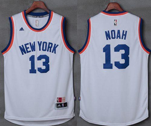 Knicks #13 Joakim Noah New White Stitched NBA Jersey