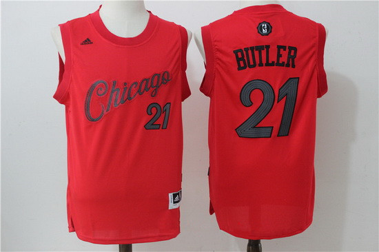 Men's Chicago Bulls #21 Jimmy Butler Red 2016 Christmas Day Stitched NBA Swingman Jersey
