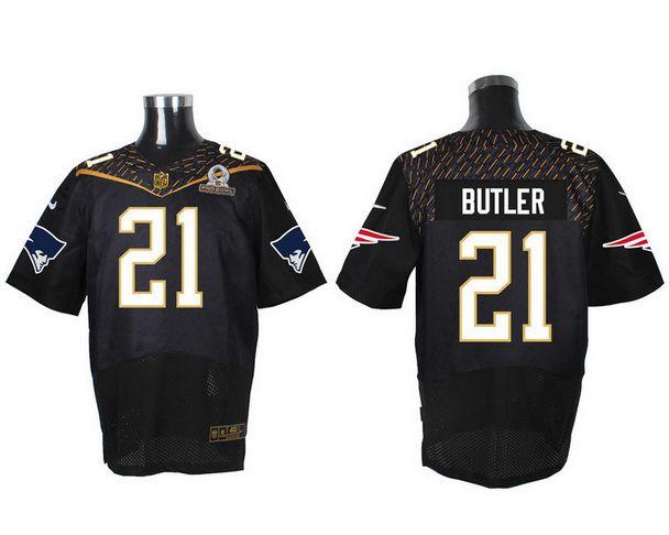 Men's New England Patriots #21 Malcolm Butler Black 2016 Pro Bowl Nike Elite Jersey