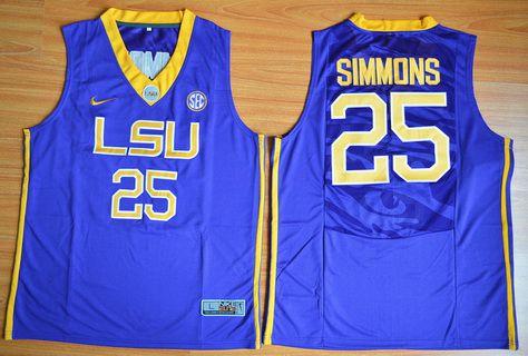 Men's LSU Tigers #25 Ben Simmons Purple College Basketball Jersey