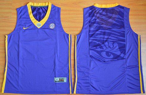Men's LSU Tigers Blank Purple College Basketball Nike Jersey