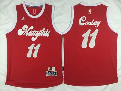 Men's Memphis Grizzlies #11 Mike Conley Revolution 30 Swingman 2015-16 Retro Red Jersey
