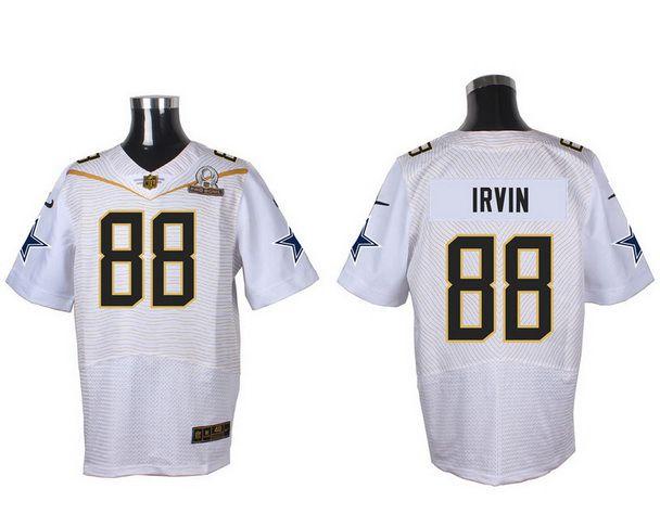 Men's Dallas Cowboys #88 Michael Irvin White 2016 Pro Bowl Nike Elite Jersey