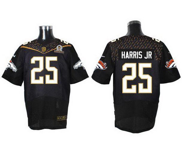 Men's Denver Broncos #25 Chris Harris Jr Black 2016 Pro Bowl Nike Elite Jersey