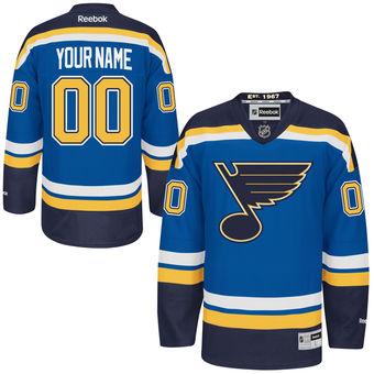 Youth St. Louis Blues Reebok Navy Blue Premier Home Custom Jersey