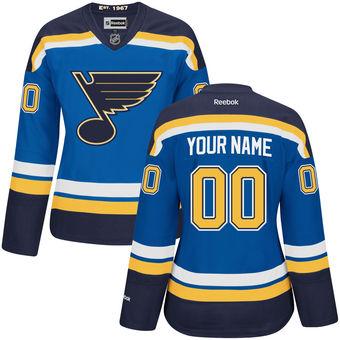 Reebok St. Louis Blues NHL Women Premier Jersey - Blue Custom