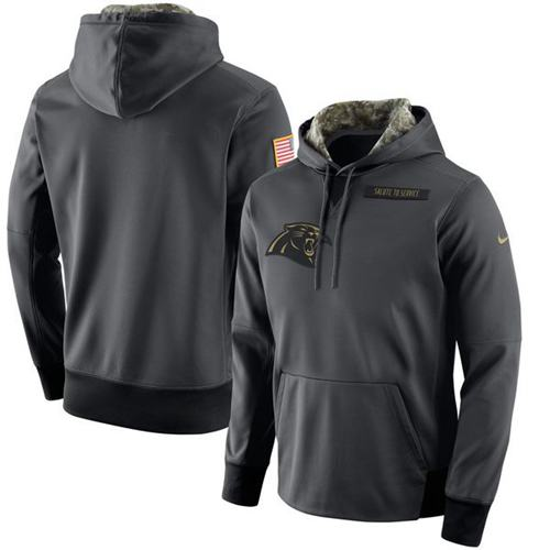 Men's Carolina Panthers Nike Anthracite Salute to Service Player Performance Hoodie