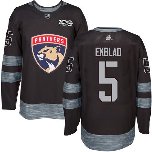 Panthers #5 Aaron Ekblad Black 1917-2017 100th Anniversary Stitched NHL Jersey