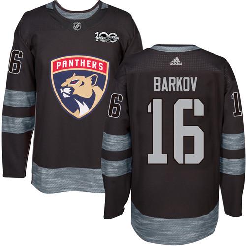 Panthers #16 Aleksander Barkov Black 1917-2017 100th Anniversary Stitched NHL Jersey