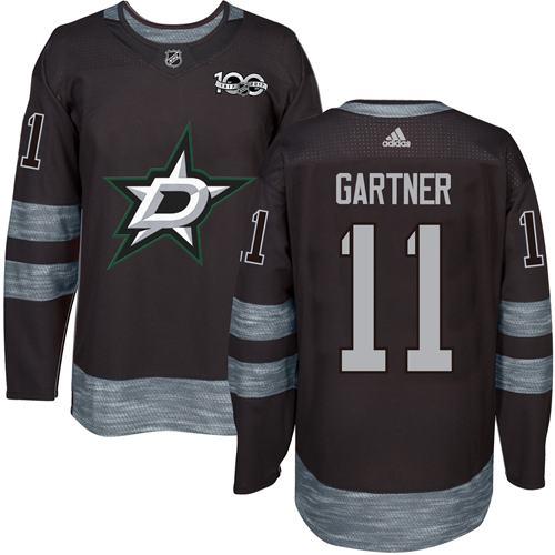 Stars #11 Mike Gartner Black 1917-2017 100th Anniversary Stitched NHL Jersey