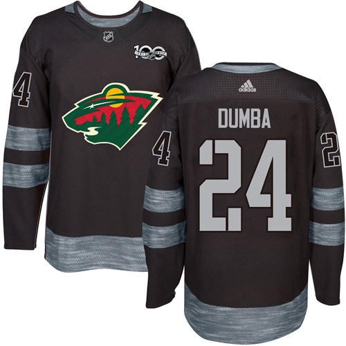 Wild #24 Matt Dumba Black 1917-2017 100th Anniversary Stitched NHL Jersey