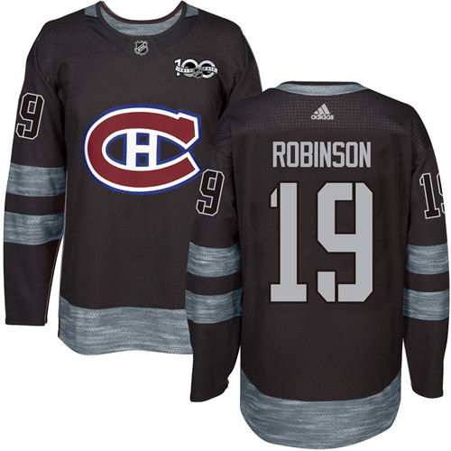 Canadiens #19 Larry Robinson Black 1917-2017 100th Anniversary Stitched NHL Jersey