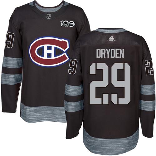 Canadiens #29 Ken Dryden Black 1917-2017 100th Anniversary Stitched NHL Jersey