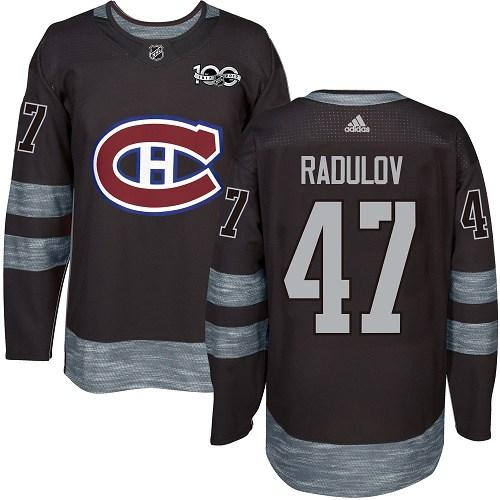 Canadiens #47 Alexander Radulov Black 1917-2017 100th Anniversary Stitched NHL Jersey