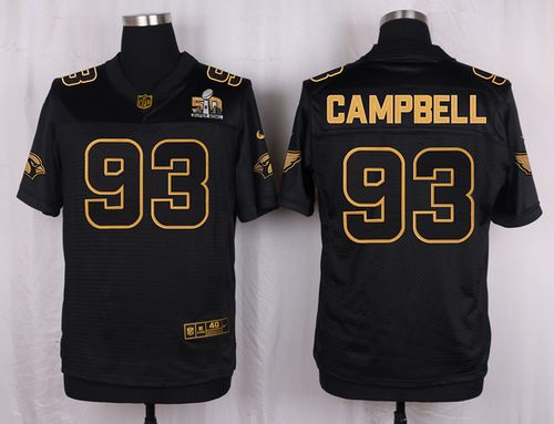 Nike Cardinals #93 Calais Campbell Pro Line Black Gold Collection Men's Stitched NFL Elite Jersey