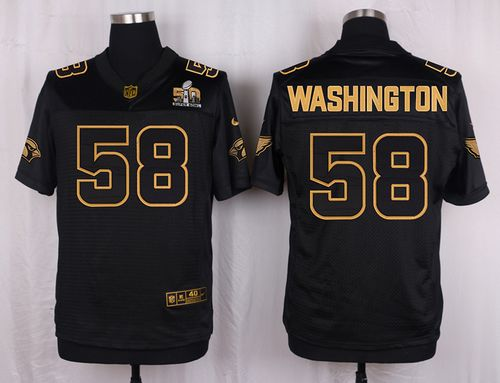 Nike Cardinals #58 Daryl Washington Pro Line Black Gold Collection Men's Stitched NFL Elite Jersey